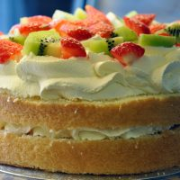 Fresh Cream & Fruit Flan