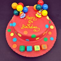 RED COLOUR POP BALLON CAKE