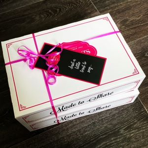 Bakers Dozen Cake Box tied with string