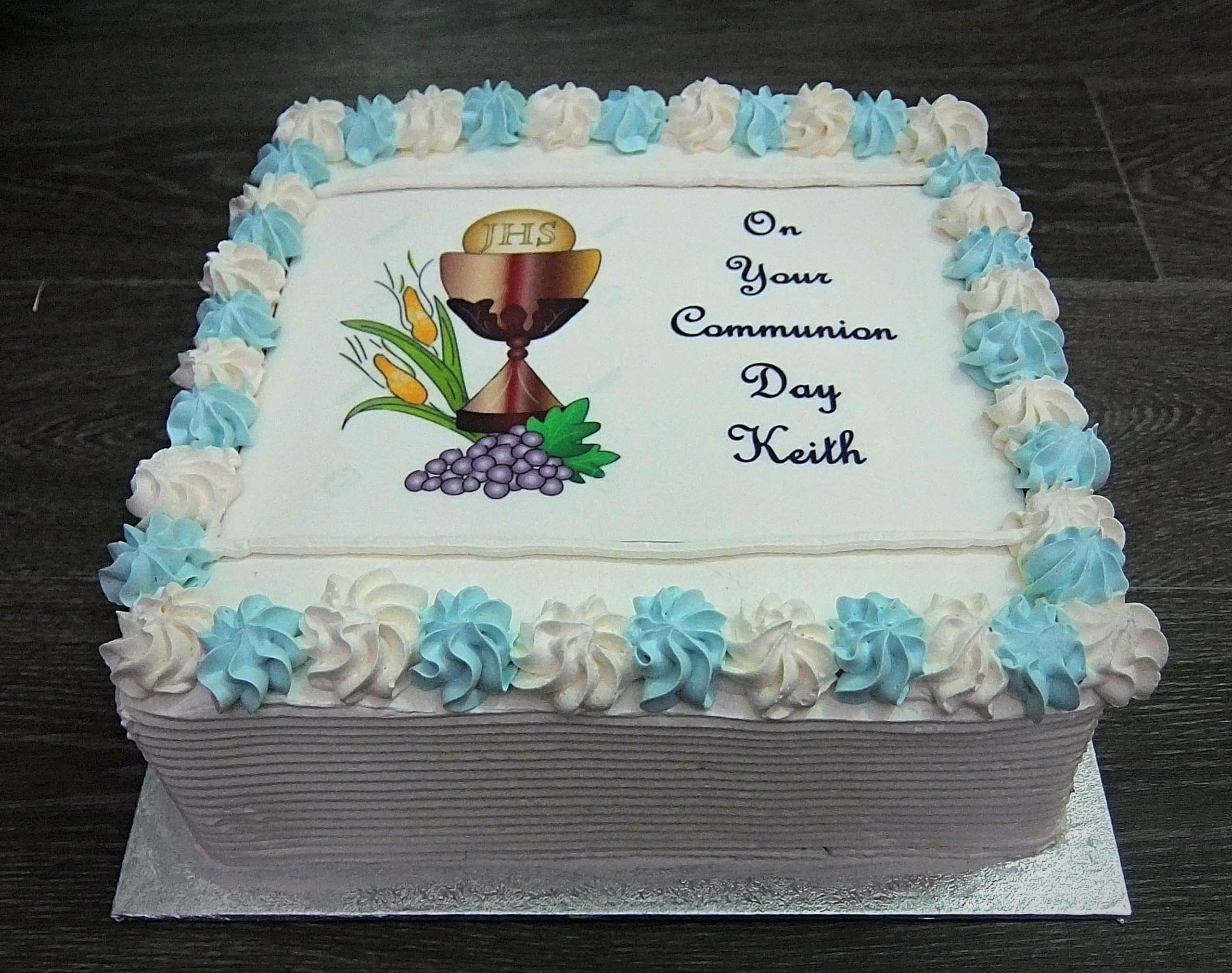 communion buttercream square