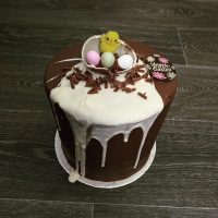 Tall Tier Easter Belgian Chocolate mud Cake